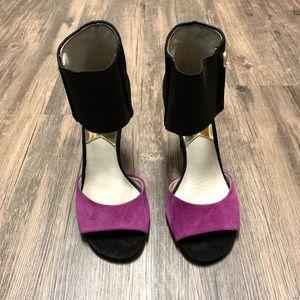 Michael Kors elastic strap open toe heels